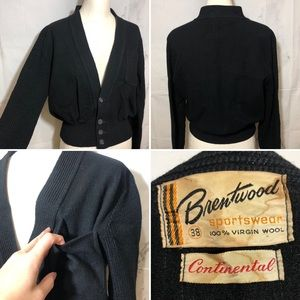VTG 60's Virgin Wool Unisex Cardigan